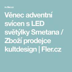 Věnec adventní svícen s LED světýlky Smetana / Zboží prodejce kultdesign | Fler.cz