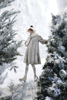 """Ice Queen"": Swan Lake on Ice Skates for Vogue Girl Korea 