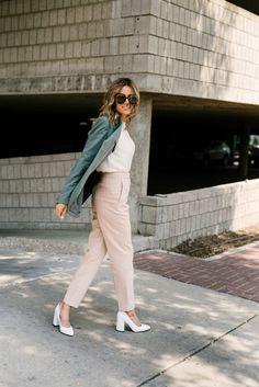 3 ways to style the city pant workwear fashion, style и chic Workwear Fashion, Work Fashion, Curvy Fashion, Fashion Outfits, Womens Fashion, Fashion Spring, Fashion Hats, Fashion Edgy, Fashion 2018