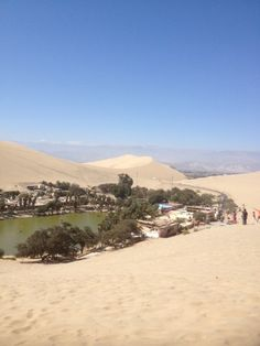 Sand dunes in Huacachina, Southern Peru. Sandboarding is extremely popular here in Peru. #travel