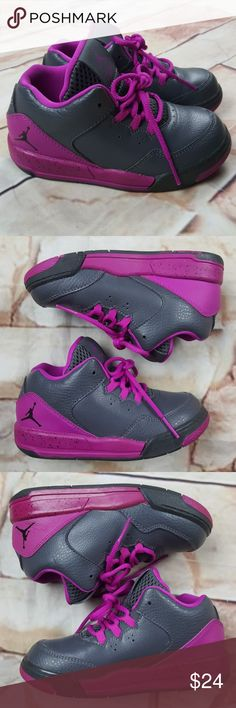 Air Jordan Flight Origin Gray Fuschia Size 9C Size 9C Air Jordan Flight  Origin Sneakers.