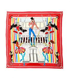 KNOW THE ROPES #SCARF Introducing the Megan Hess scarf collection exclusively at Henri Bendel. Available in four feminine and unique prints these scarves are great accessories to add polish and color year-round. Megan is a world-renowned fashion illustrator. Her inspiration for her iconic art ranges from vintage finds to the streets of #NYC .