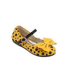Sapato baby amarelo e preto