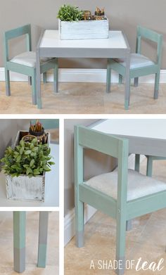IKEA Hack- Latt Kids Table Makeover | A Shade Of Teal