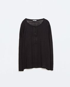 Image 6 of BUTTON-NECK T-SHIRT from Zara