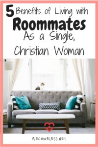 As a Single, Christian Woman, Should I Live by Myself or With Roommates?As a single, 27-year-old woman, I feel like I've lived in many different spaces.My parents' home.College dorm rooms.An apartment with a roommate.My own apartment.And now to a house with 3 other...