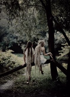 boho, forest, girls, bohemian, sisters, nature