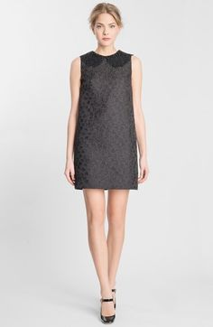 Dolce&Gabbana Lace Collar Jacquard Shift Dress available at #Nordstrom