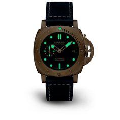 Novedades Panerai 2021 - Panerai Submersible Bronzo Blu Abisso PAM01074 Luminiscencia Panerai Submersible, Leather, Accessories, Diving Watch, Jewelry Accessories