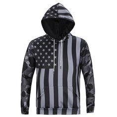 Black Flag Printing Hooded Sweatshirt-L6019