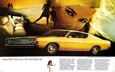 pictures of ford fairlane 500 - ford fairlane 500 category Old Muscle Cars, American Muscle Cars, Detroit Cars, Car Brochure, Ford Torino, Ford Fairlane, Ford Motor Company, Car Girls, Vintage Ads