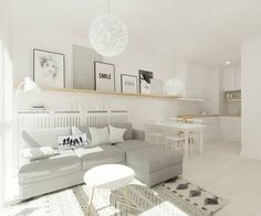 Scandinavian style living room by 4ma projekt