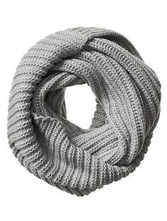 Chunky Ribbed Infinity Scarf from Banana Republic, $80. In grey please.