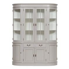 This gorgeous dresser is the perfect storage solution for your kitchen or dining room. Use as a larder or crockery cabinet. The whole dresser has curved cabinet and glazed doors. Crockery Cabinet, China Cabinet, Dining Room Dresser, Made To Measure Furniture, Rattan Stool, Grey Dresser, Side Table With Storage, Grey Paint, Storage Solutions