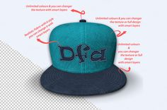 Realistic Baseball Cap Mock-Up by Mock-upstore on @creativemarket