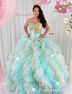 Quinceanera Dress #10145QM #Quinceaneramall #diosacollection