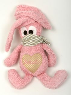 rosa Kuscheltier Hase // pink cuddly toy, stuffed animal bunny via DaWanda.com
