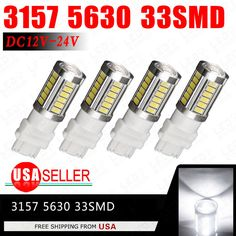 4x Pure White 3157 5630 33-Smd LED Car Backup Reverse Tail Stop Lights 3155 US | eBay Motors, Parts & Accessories, Car & Truck Parts | eBay!