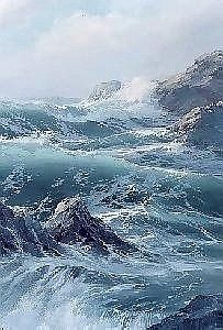 """Byron Pickering ~ """"Storm Center"""" ~ Oil on Canvas 1985"""