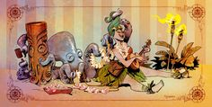 Lounging with Otto various sizes by BrianKesinger on Etsy