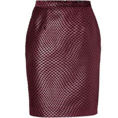 Marios Schwab Pencil Skirt (405 CAD) ❤ liked on Polyvore featuring skirts, gonne, юбки, purple, pencil skirts, patterned pencil skirt, knee length pencil skirt, patterned skirts and print pencil skirt