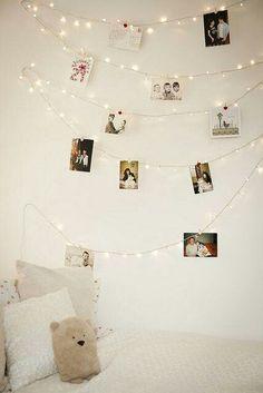 Guirnalda de luces para colgar fotos.