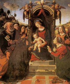 Piero di Cosimo - Il matrimonio mistico di Santa Caterina d'Alessandria - 1488-1500 - Galleria dello Spedale degli Innocenti - Firenze
