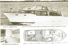 Boat Dock Designs And Plans Plywood Boat Plans, Wooden Boat Plans, Wooden Boats, Duck Blind Plans, Chris Craft Boats, Vintage Boats, Vintage Art, Classic Yachts, Cabin Cruiser