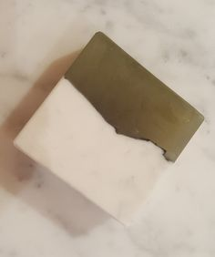 """handmade shea butter, glycerin, french green clay and activated charcoal """"minty marble"""" soap"""