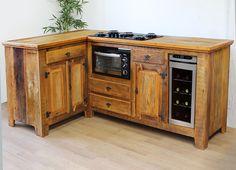 Olha que lindo!! Armário de Cozinha em madeira de demolição.
