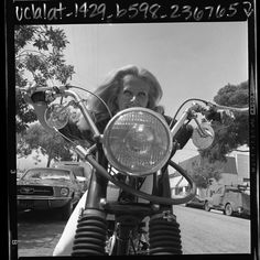 """""""When I first started riding motorcycles people looked at me like I was crazy. Now so many other women ride them, everyone just accepts it."""" Miss Mille Evans, West Hollywood."""