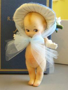R John Wright Felt Blue Bonnet Kewpie Doll | eBay