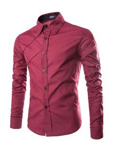 Adam Woolf Plus Size Summer Brand Shirt Male Shirt Sleeve Social Shirt Turn-Down Collar