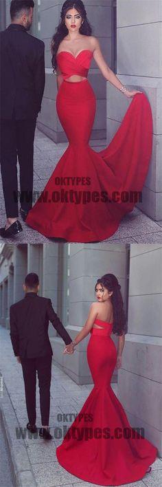 Red Long Mermaid Prom Dresses, Sweetheart Prom Dresses, Zipper Prom Dresses, Sexy Prom Dresses, TYP0219 #promdresses