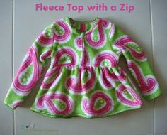 Sewing The Littleheart Collection: Fleece top with a zip