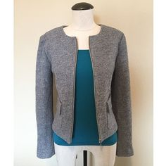 Wool (Gray) Jacket sz S NWOT Wool (Gray) Jacket sz S NWOT by Ann Taylor▪️It's brand new, without tags, never been worn. It has a front zipper and double front pockets. The tank-top is NOT included.                                   NO TRADES NO PAYPAL Ann Taylor Jackets & Coats