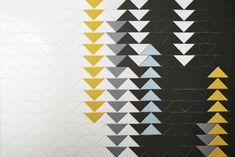 New bathroom design commercial tile patterns Ideas New Bathroom Designs, Bathroom Design Luxury, Bathroom Ideas, Black Toilet Paper Holder, Yellow Tile, Fireclay Tile, Office Bathroom, Handmade Tiles, Tile Installation