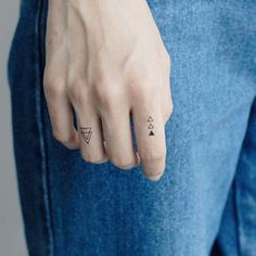 triangle tattoo on finger #TemporaryTattooRemoval #RemoveTattooTat