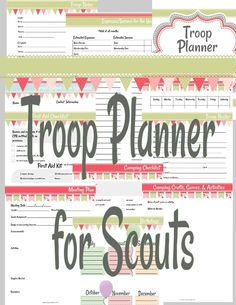 This has everything you need to make Girl Scout troop planning a breeze! Includes meeting plan templates, financial worksheets, camping lists and templates, and so much more.
