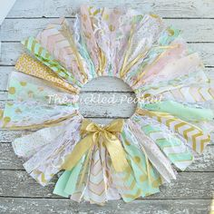 Pink Mint Gold Birthday Pink Mint Gold Tutu by ThePickledPeanut