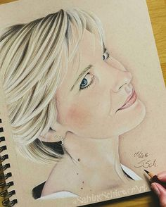 Finished  a self-portrait  I draw it with Polychromos and pastel on…