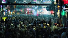 Cyberpunk Painting Cyberpunk crowd