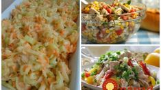 Cottage Cheese, Pasta Salad, Pickles, Potato Salad, Shrimp, Food And Drink, Potatoes, Meat, Ethnic Recipes