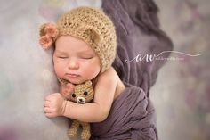Bear Bonnet and Stuffie pattern | $5.00 by Willow & Otter Studios