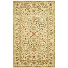 """Safavieh Antiquities Collection AT14A Handmade Traditional Oriental Ivory Wool Area Rug (9'6"""" x 13'6"""")"""