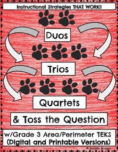 Duos, Trios, Quartets & Toss the Question... by The Digital Daydreamer | Teachers Pay Teachers