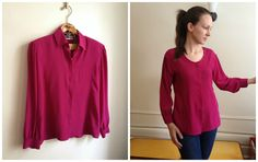 Little Did You Know...: The Giveaway Top [February 2014, very useful refashion with good instructions]