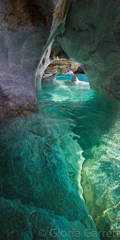 Marble Caves/Caverns/Cathedral of Lago Carrera, Patagonia,  Chile (****See similar Pins of the Marble Caves throughout.)