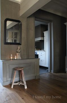 I found my home Lime Paint, Belgian Style, Living Spaces, Living Room, French Country House, Cozy Living, Grey Walls, Decoration, Sober