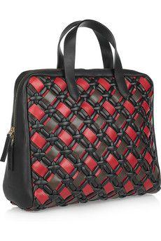 Marni Woven leather tote